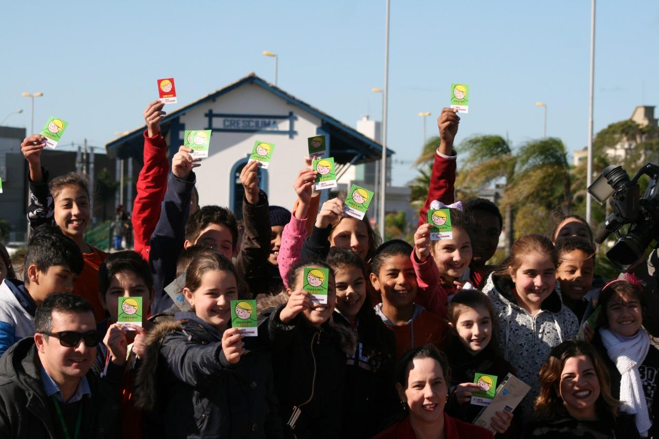 Ação de conscientização leva 400 estudantes ao Parque das Nações