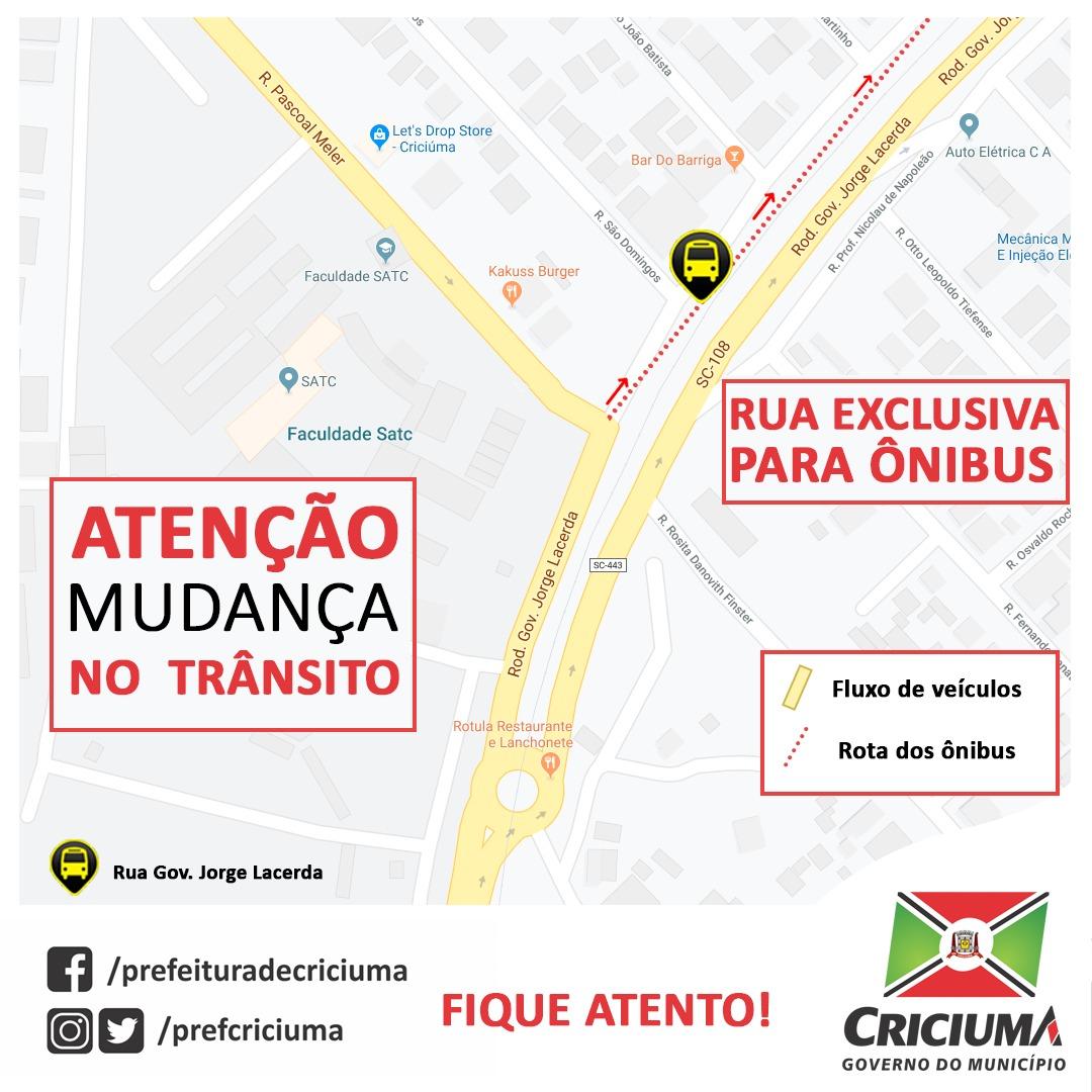 Prefeitura Municipal de Criciúma - DTT pede atenção às alterações no trânsito no bairro Pinheirinho