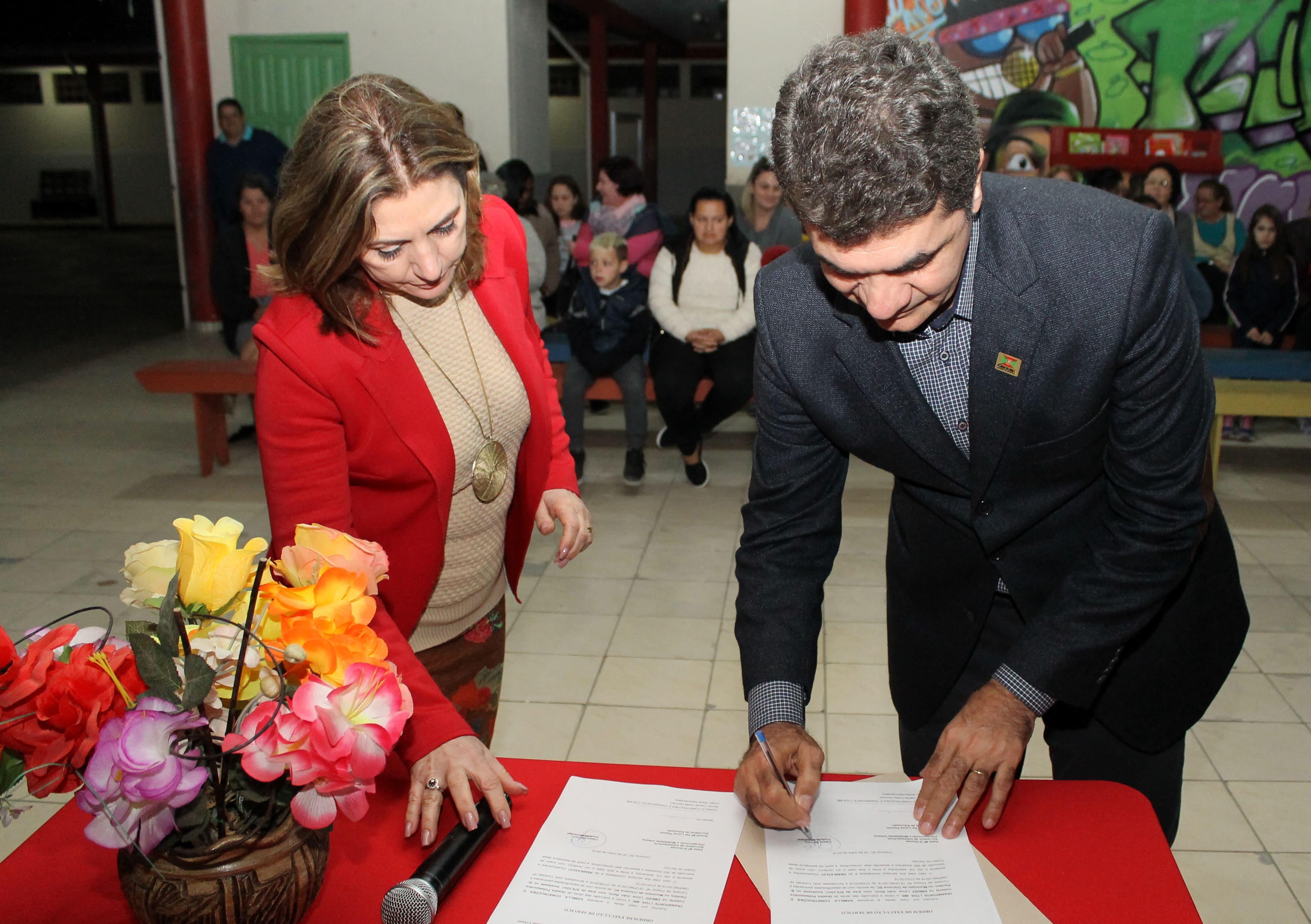 Autorizada construção de quadra poliesportiva na Escola Linus João Rech