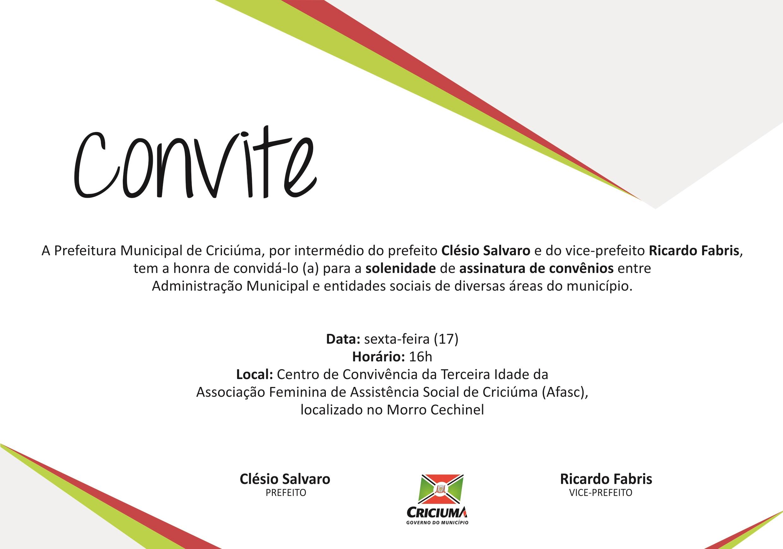 Prefeitura de Criciúma e entidades sociais firmam convênios nesta sexta-feira