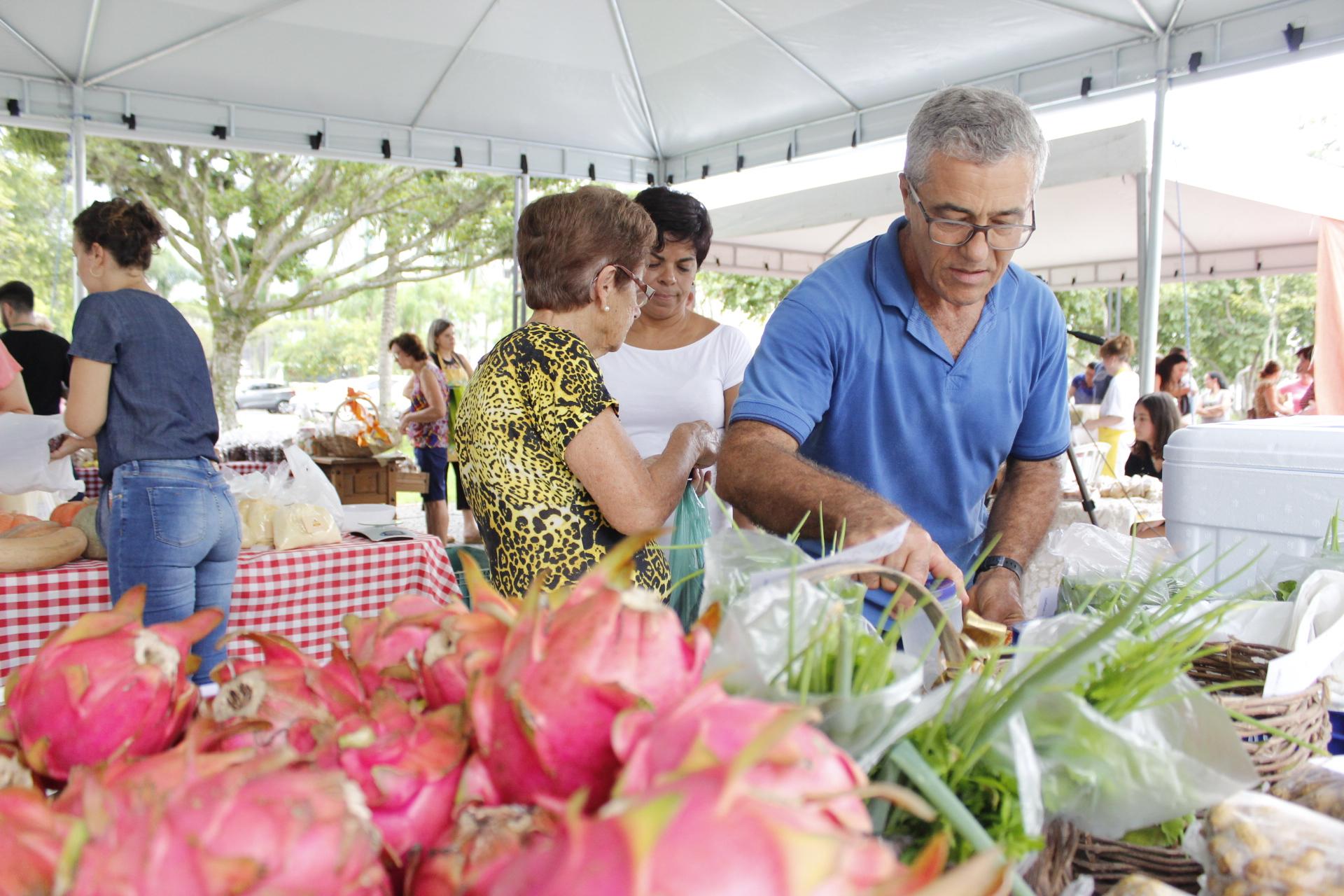 Feira da Agricultura Familiar mobiliza criciumenses no Paço Municipal Marcos Rovaris
