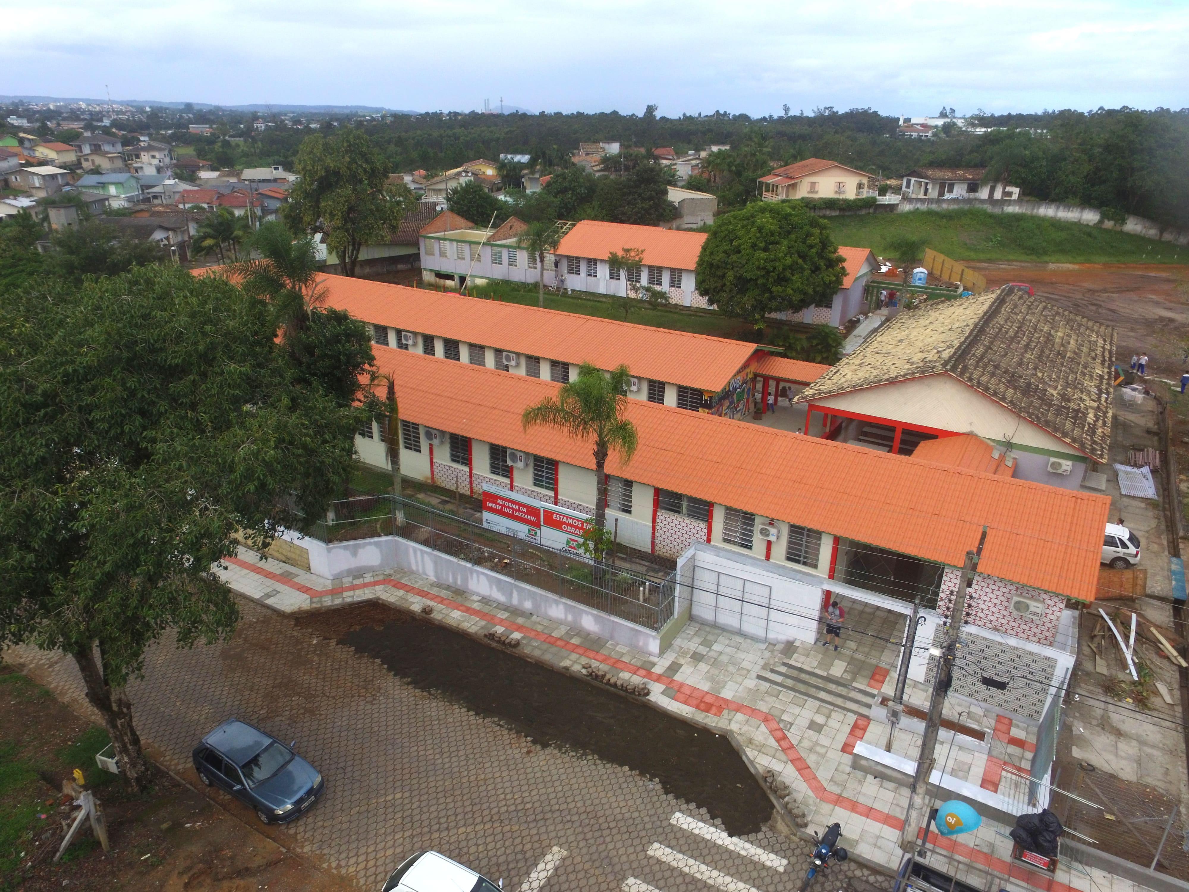 Prefeitura Municipal de Criciúma - Administração Municipal inaugura reforma e ampliação da Escola Municipal Luiz Lazzarin neste sábado