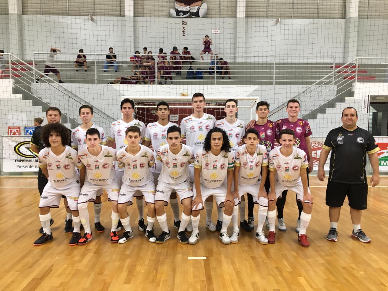 Prefeitura Municipal de Criciúma - Criciúma conquista segunda vitória consecutiva no Estadual de Futsal Sub-17