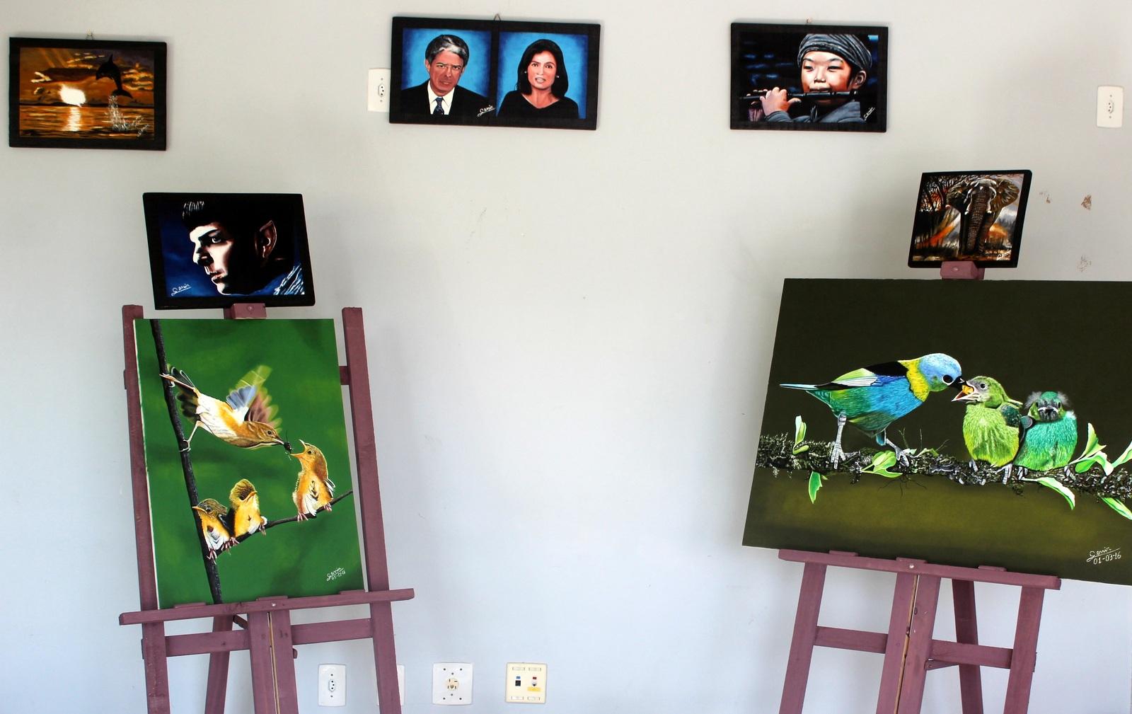 Exposição de pinturas segue aberta na Casa da Cultura do Rio Maina