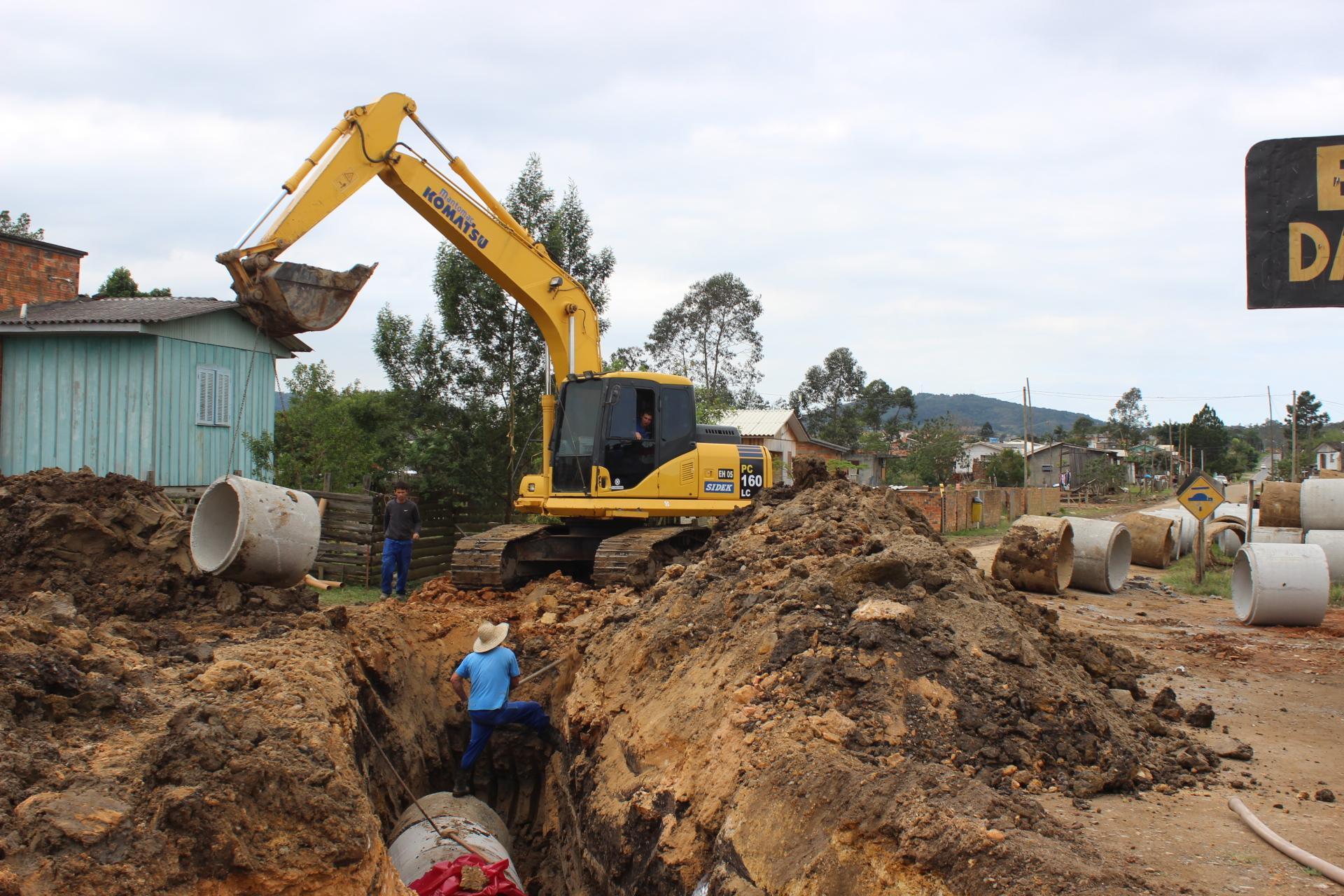 Obras: inicia macrodrenagem no bairro Monte Castelo