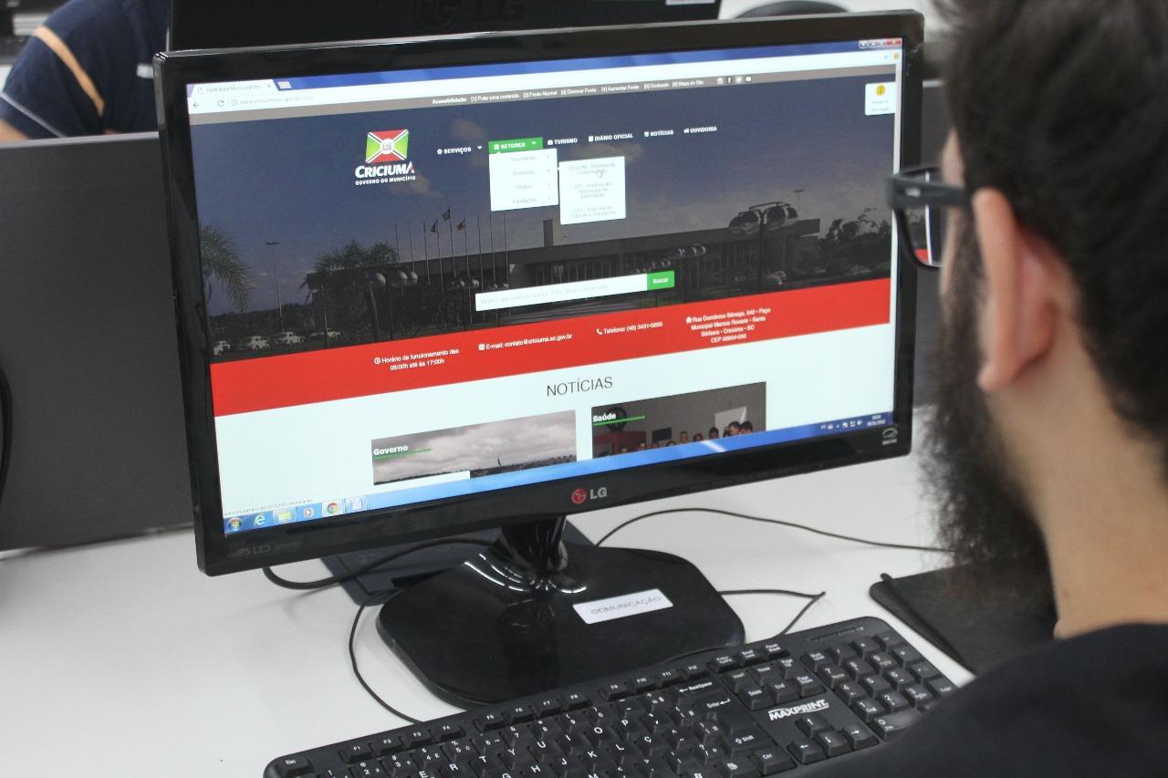 Novo site da Prefeitura de Criciúma traz mais acessibilidade e agilidade para os cidadãos