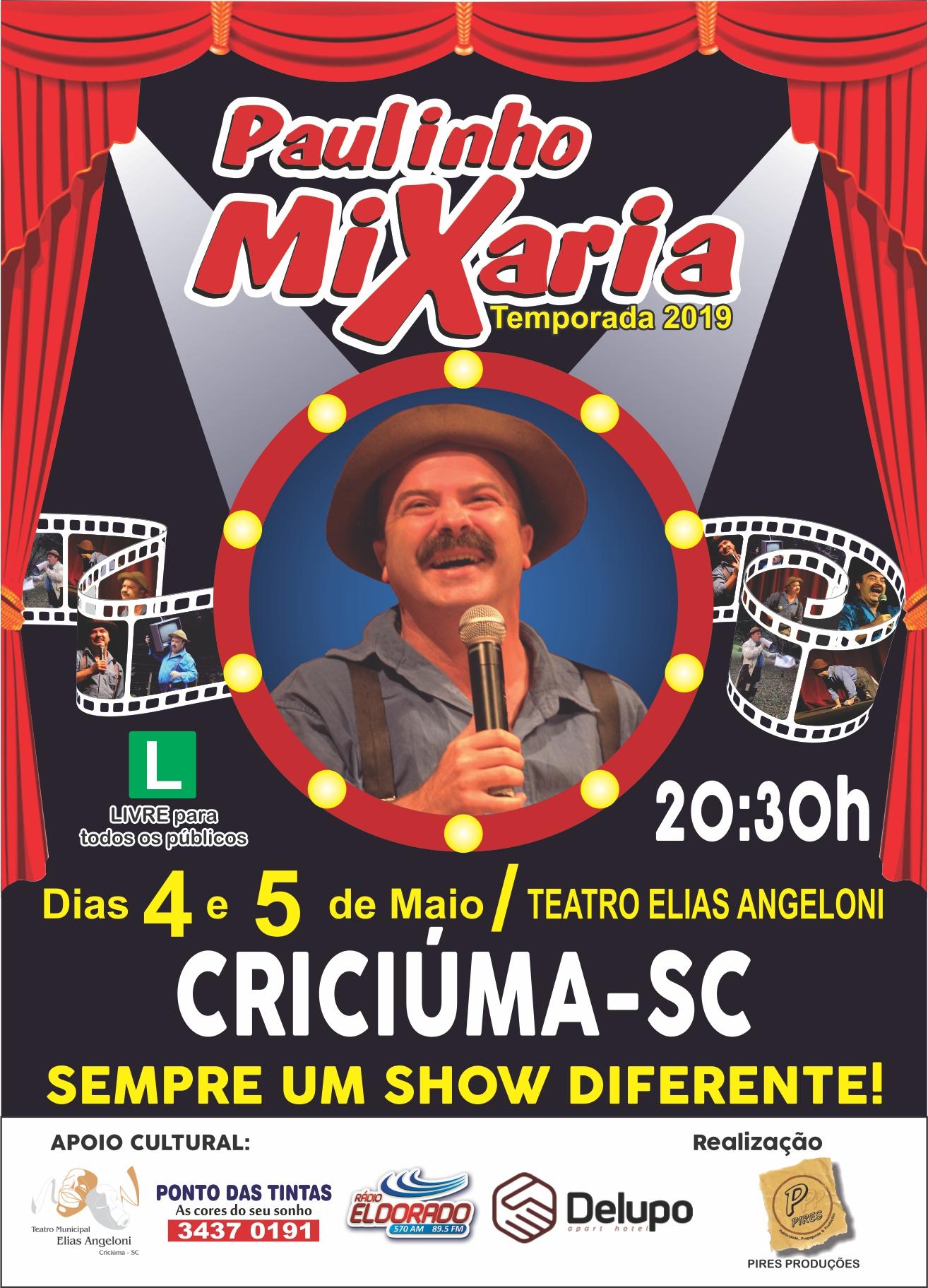 Prefeitura Municipal de Criciúma - Atrações nacionais movimentam o Teatro Elias Angeloni nos próximos dias
